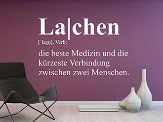 Wandtattoo Lachen Definition