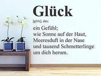 Wandtattoo Glück Definition