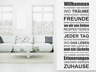 wandtattoo das leben w re perfekt spruchband von. Black Bedroom Furniture Sets. Home Design Ideas