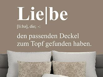 Wandtattoo Liebe Definition