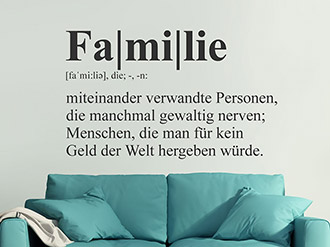 Wandtattoo Familie Definition