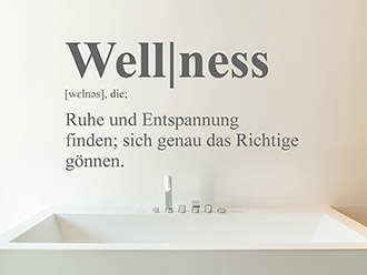 Wandtattoo Wellness Definition
