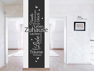 Wandtattoo Zuhause Banner