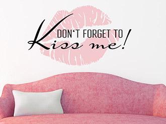 Wandtattoo Kiss me zweifarbig