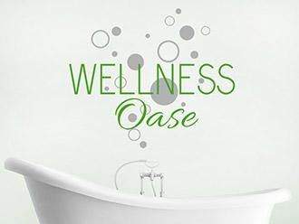 Wandtattoo Wellness Oase mit Kreisen