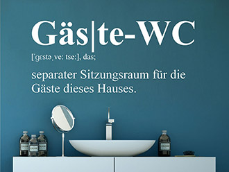 Wandtattoo Gäste-WC Definition
