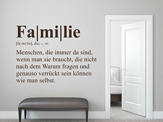 Wandtattoo Familie Definition 2