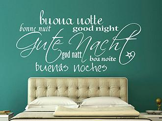 Wandtattoo Gute Nacht mit Stern