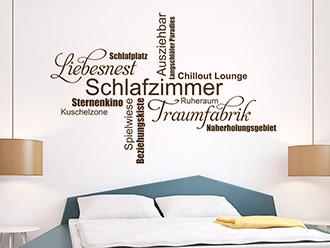 GroB Wandtattoo Schlafzimmer Wortwolke