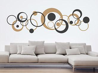 Exceptional Wandtattoo Zweifarbige Retro Kreise
