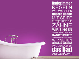Wandtattoo Badezimmer Regeln