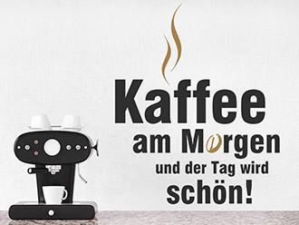 Wandtattoo Kaffee am Morgen