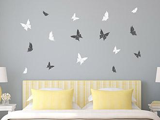 Wandtattoo Origami Schmetterlinge