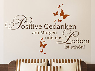 Wandtattoo Positive Gedanken