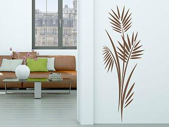 Wandtattoo Moderner Blätterstrauch