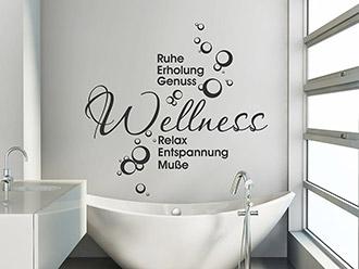 Wandtattoo Wellness Ruhe Erholung