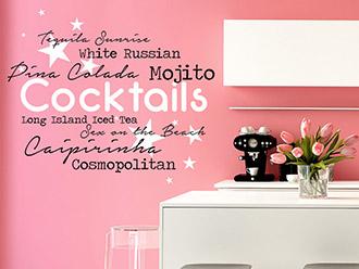Wandtattoo Cocktails zweifarbig