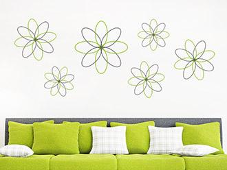 Wandtattoo Moderne Blüten