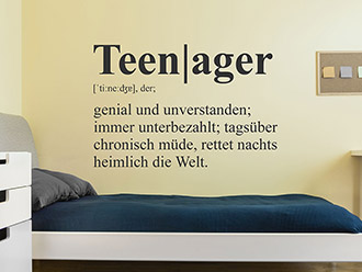 Wandtattoo Teenager Definition