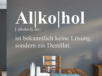 Wandtattoo Alkohol Definition