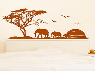 Wandtattoo Afrika Reise