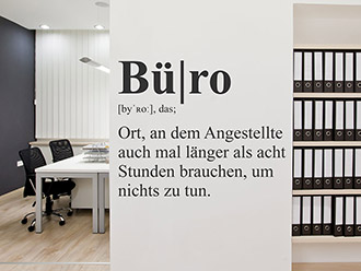 Wandtattoo Büro Definition