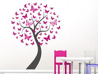 Wandtattoo Baum mit Schmetterlingen