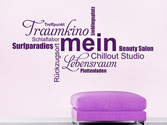Wandtattoo Mein Chillout Studio
