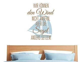 Wandtattoo Wir können den Wind nicht ändern