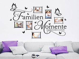 Wandtattoo Bilderrahmen Familien Momente
