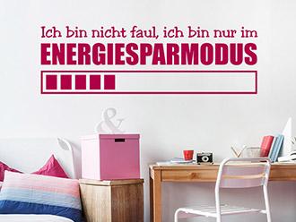 Wandtattoo Energiesparmodus