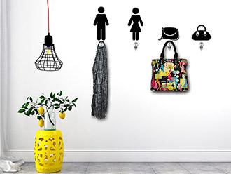 Garderobe Mann und Frau