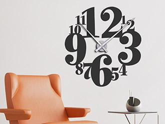 Wandtattoo Uhr mit Zahlen
