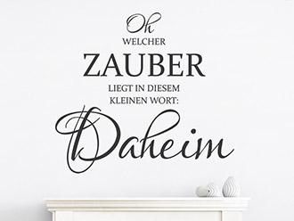 Wandtattoo Daheim