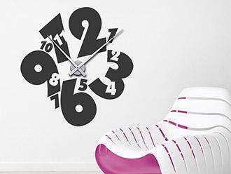 Wandtattoo Uhr Verdrehte Zeit
