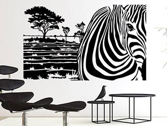 Wandtattoo Zebra Banner
