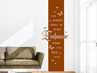 Wandtattoo Banner Zuhause Sprachen