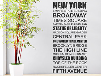 Wandtattoo New York Sehenswürdigkeiten