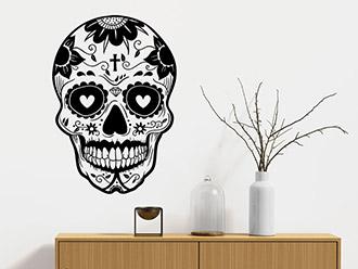 Wandtattoo Mexikanischer Totenkopf