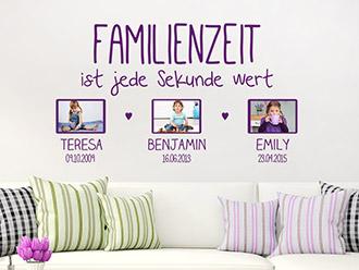 Wandtattoo Fotorahmen Familienzeit