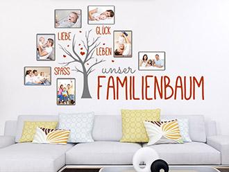 Wandtattoo Fotorahmen Familienbaum