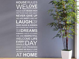 Wandtattoo House Rules