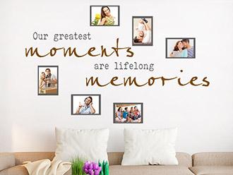 Wandtattoo Lifelong memories mit Fotorahmen