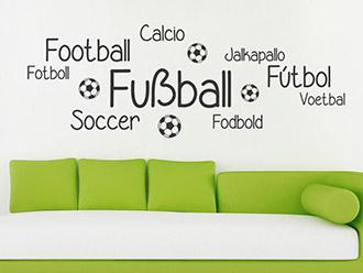 Wandtattoo Fußball Sprachen