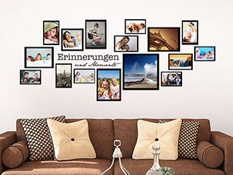 Wandtattoo Fotorahmen Set Erinnerungen