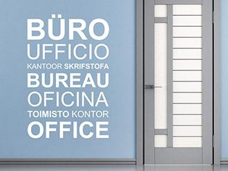 Wandtattoo Büro Sprachen