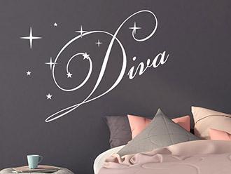 Wandtattoo Schriftzug Diva
