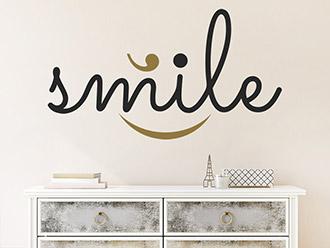 Wandtattoo Smile zweifarbig