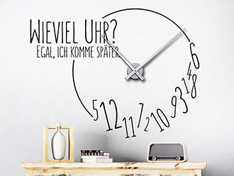 Wandtattoo Uhren mit kreativen Designer-Zeigern | WANDTATTOO.DE