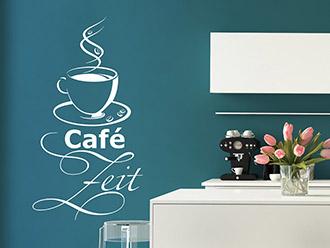Wandtattoo Zeit für Café